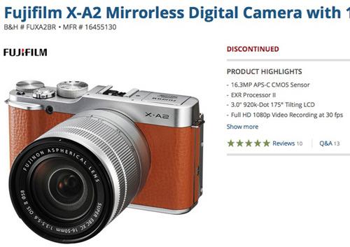 Fujifilm-X-A2discontined